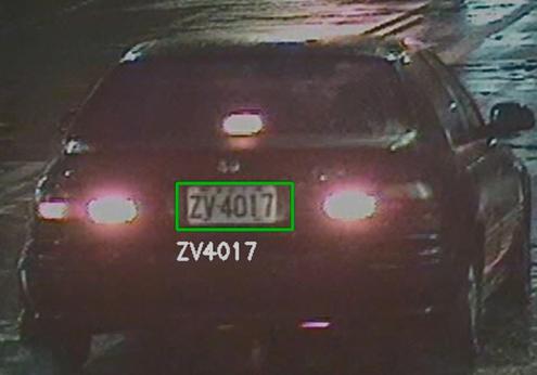 License plate recognition (ALPR/ANPR)